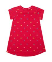 Mothercare Pink Glitter Puff-Print Floral Dress