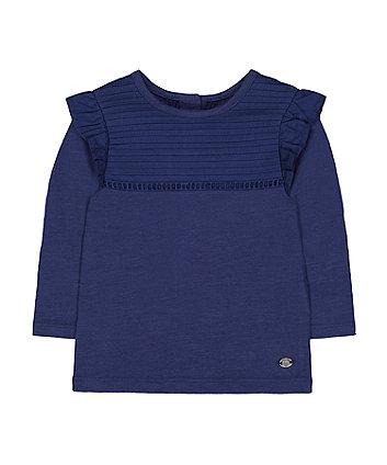 Mothercare Navy Frill T-Shirt