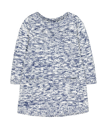 Mothercare Blue Twisted-Yarn Knit Dress