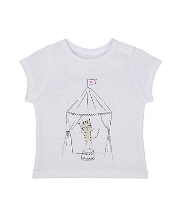 Mothercare White Tiger Circus Tent T-Shirt