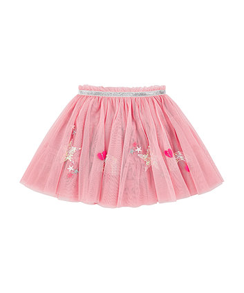 Mothercare Pink Sequin Rainbow And Stars Mesh Tutu