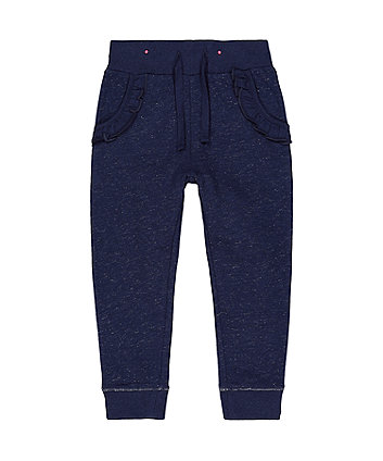 Mothercare Navy Frilled Joggers