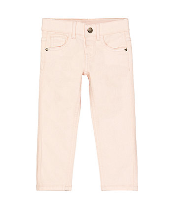 Mothercare Stretch Twill Trousers - Pink