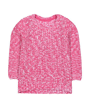 Mothercare Pink Knit Jumper