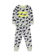 Mothercare Grey Dinosaur Pyjamas