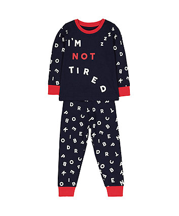 Mothercare Navy Not Tired Pyjamas