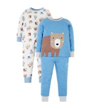 Mothercare Animal Pyjamas - 2 Pack