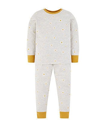 Mothercare Grey Daisy Pyjamas