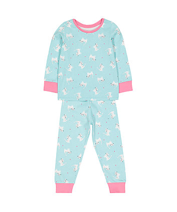 Mothercare Turquoise Cat Pyjamas