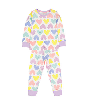 Mothercare Multicolour Hearts Pyjamas