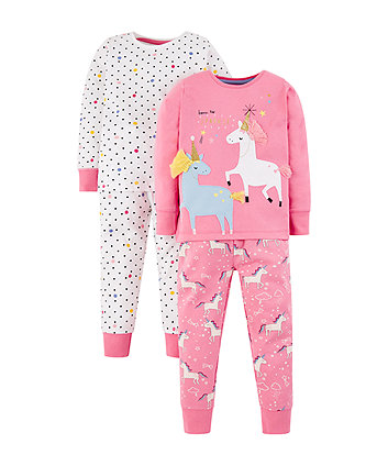 Mothercare Glitter Party Horses Pyjamas - 2 Pack