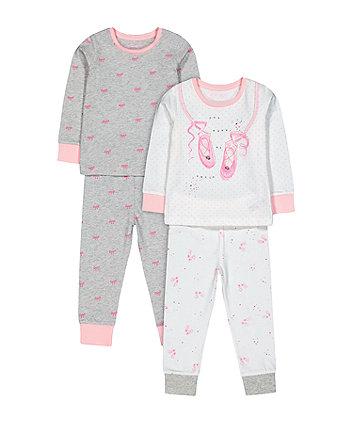 Pink And Grey Ballet Pyjamas
