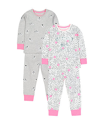 Mothercare Dream Big Spot Pyjamas - 2 Pack