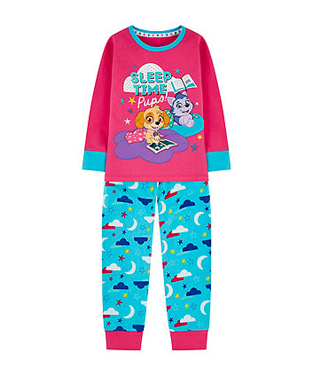 Mothercare Paw Patrol Pink And Blue Pyjamas