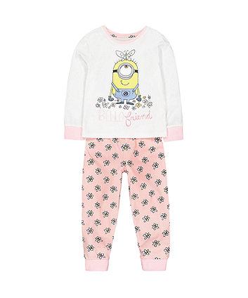 Mothercare Pink Minions Pyjamas