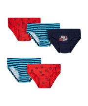 Mothercare Football Briefs - 5 Pack