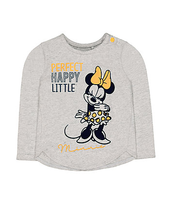 Mothercare Disney Minnie Mouse Grey T-Shirt