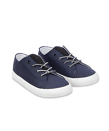 Mothercare Lace Up Trainer - Navy