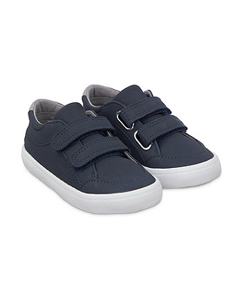 Mothercare Strap Trainers Shoes- Navy