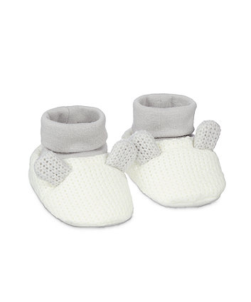 Mothercare 3D Ears Socktop - Grey/White