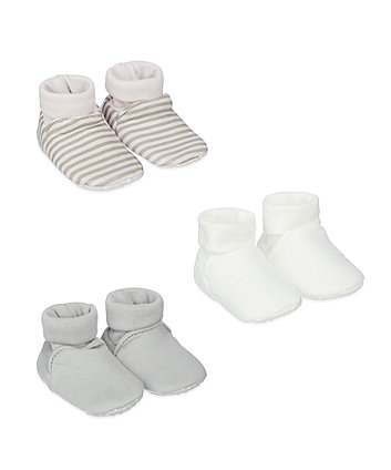 Mothercare Stripe And Plain Socktop - 3 Pack