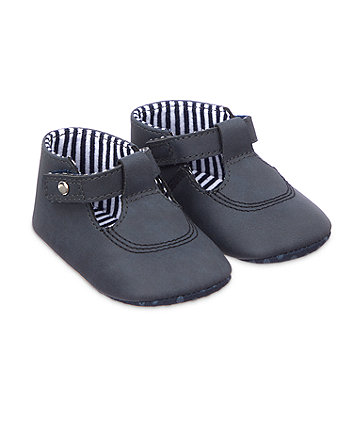 Mothercare T-Bar Pram Shoes - Navy