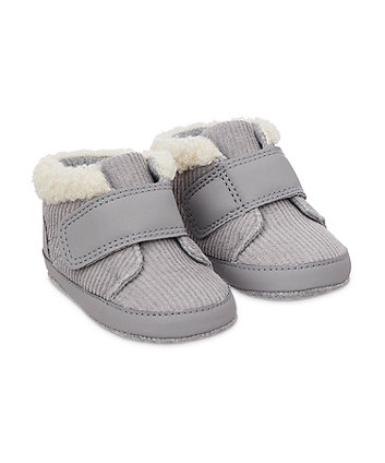 Mothercare Cord Boot Pram Shoes - Grey