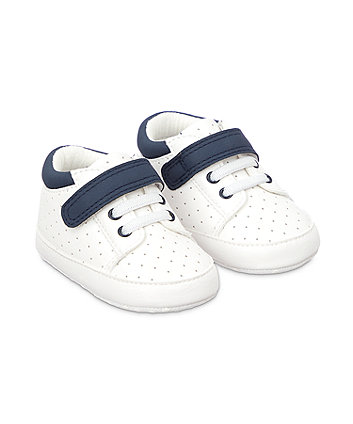 Mothercare Punch Out Trainers Shoes - White