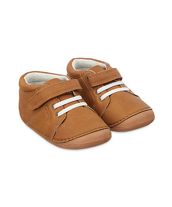 Mothercare Strap Crawler Shoes - Tan