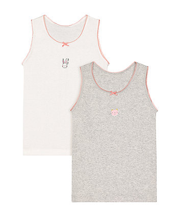Mothercare Bunny Vests - 2 Pack