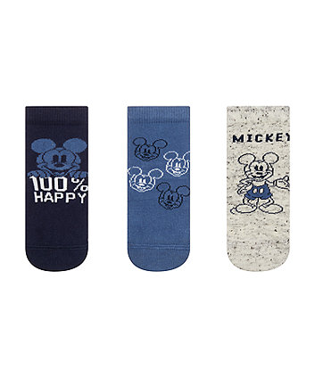 Mothercare Mickey Mouse Socks - 3 Pack