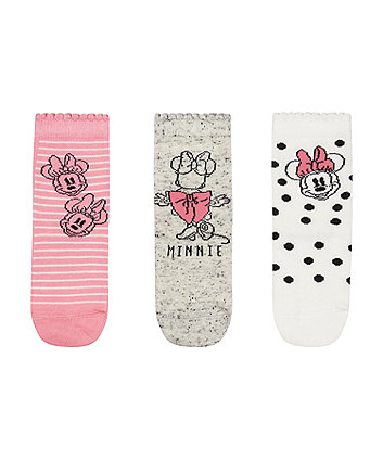 Mothercare Minnie Mouse Baby Socks - 3 Pack