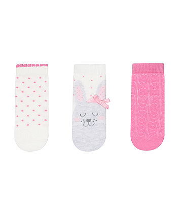 Mothercare Bunny Baby Socks - 3 Pack