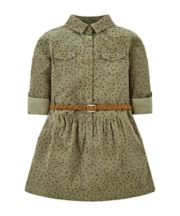 Mothercare Khaki Spot Cord Shirt Dress