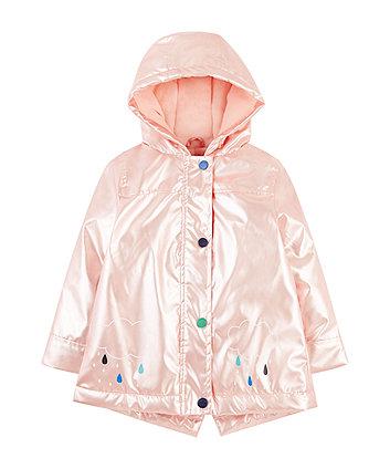 Mothercare Pearl Pink Rainy Cloud Fleece-Lined Mac