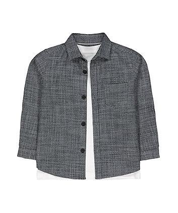 Mothercare Grey Shirt And T-Shirt Set