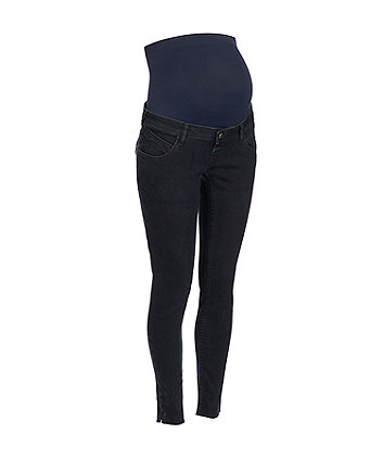 Mothercare Blue/Black Over-The-Bump Slim Maternity Jeans