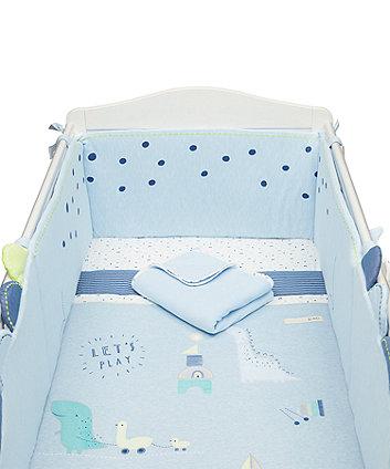 Mothercare Sleepysaurus Bed In A Bag (Includes Long Bumper)
