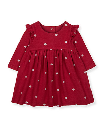 Mothercare Red Spot Frill Dress