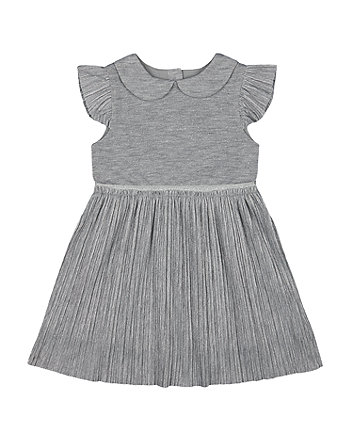 Mothercare Fashion Sparkly Silver Pliss Dress