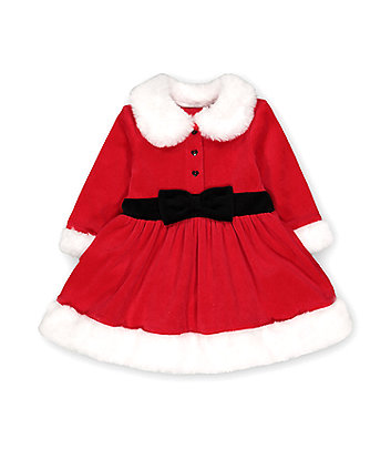 Mothercare Festive Mrs Santa Claus Dress And Tights Set
