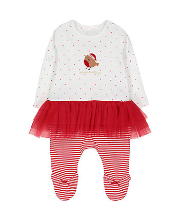 Mothercare Festive Robin Tutu All In One