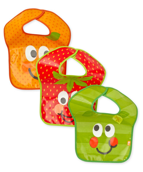 Mothercare 5 A Day Fruits Bibs - 3 Pack