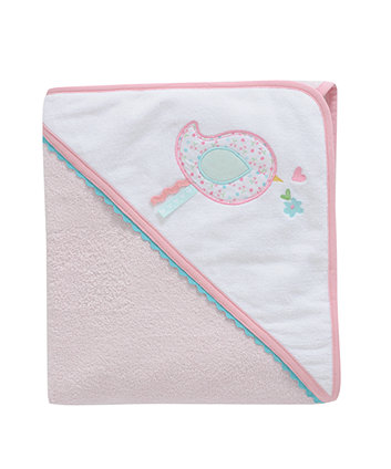 Mothercare Daisy Lane Cuddle And Dry Hooded Towel - Pink