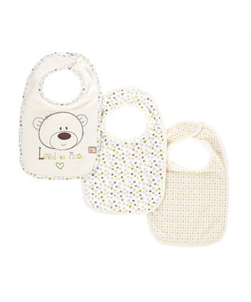Mothercare Loved So Much Bibs - 3 Pack