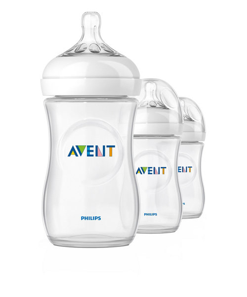 Philips Avent Natural Bottle 9oz/260ml - 3 Pack