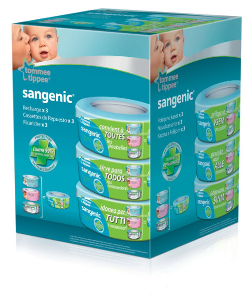 Tommee Tippee Sangenic Compatible Cassette - 3pk