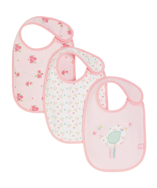 Mothercare Little Lane Newborn Bibs - 3 Pack