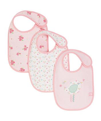 Mothercare Little Lane Newborn Bibs - 3 Pack