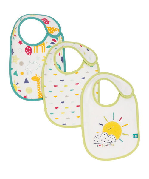 Mothercare I Love Sunshine Newborn Bibs - 3 Pack